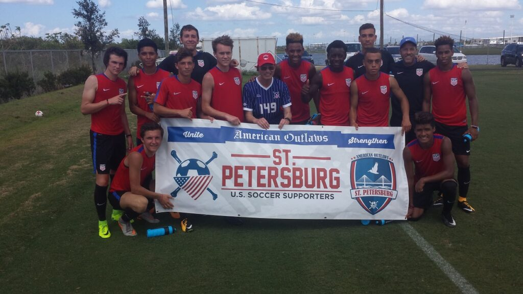 Ron Chin with the U17 U.S. U17 Youth National Team in